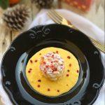 Tartare di tonno su salsa di clementine