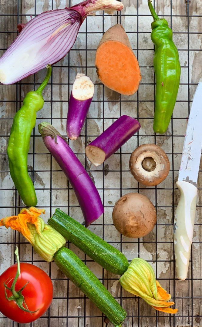 %name Crostoni di verdure grigliate in insalata