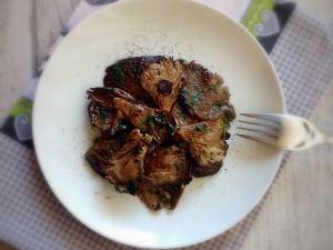 Pleurotus al forno