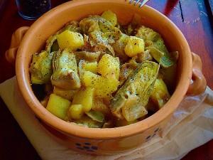 Carciofi e patate alla sarda