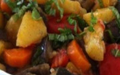 Patate e melanzane al forno
