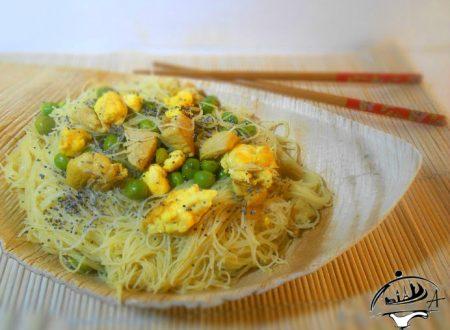 Noodles di riso all'orientale