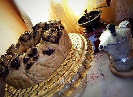 Ciambella brioche ginseng e cioccolato fondente