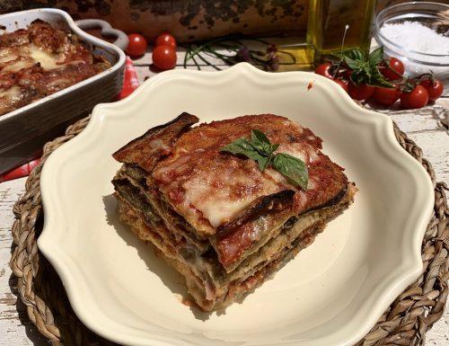 PARMIGIANA DI MELANZANE                  al forno impanate.