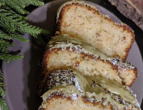 PLUME CAKE ALLO YOGURT E CREMA DI PISTACCHIO
