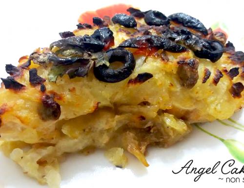 Pesce spada al forno in crosta di patate