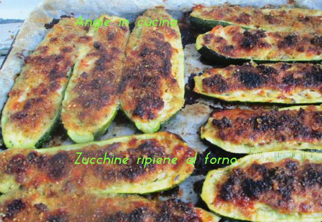 Zucchine ripiene al forno for Cucinare zucchine al forno