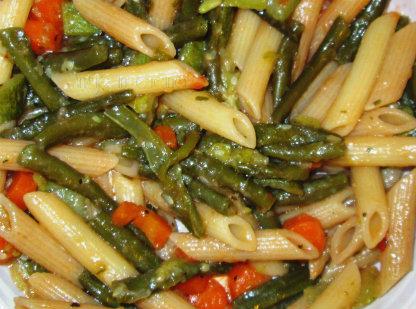 Penne fagiolino, taccole e carote