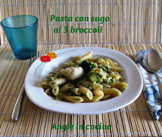 Pasta con sugo ai 3 broccoli