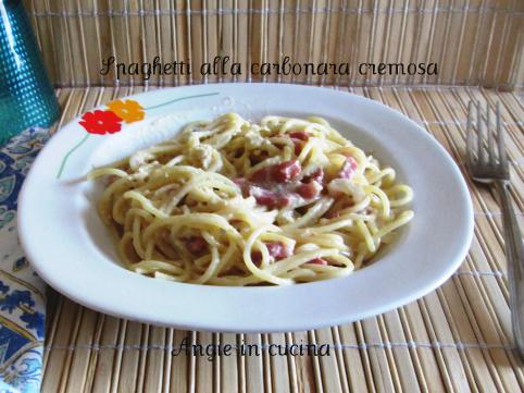 Spaghetti alla carbonara cremosa