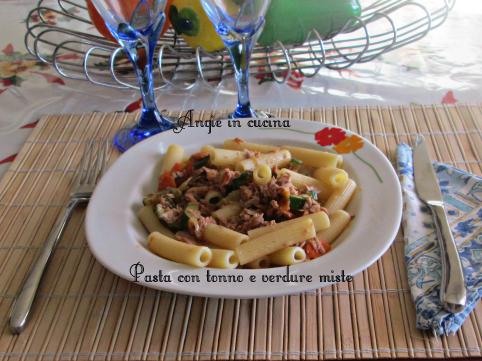Pasta con tonno e verdure miste ( gustosa e leggera)