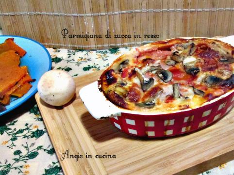 Parmigiana di zucca in rosso ricetta light