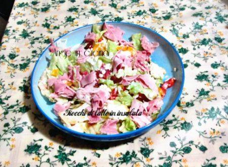 Fiocchi di latte in insalata  (ricetta light/dukan)