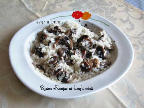 Risino konjac ai funghi misti ricetta dukan angie in cucina for Cucinare konjac