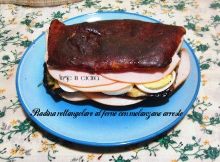 Piadina rettangolare al forno con melanzane arrosto