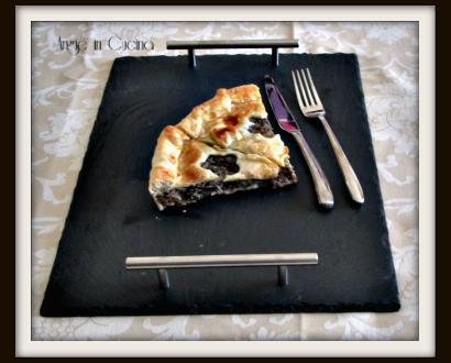 Torta salata al tonno e crema di melanzana