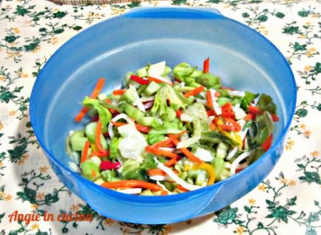 Insalata in agrodolce  ricetta light/dukan