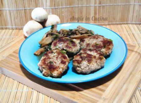 Polpette ai funghi champignon Secondo piatto