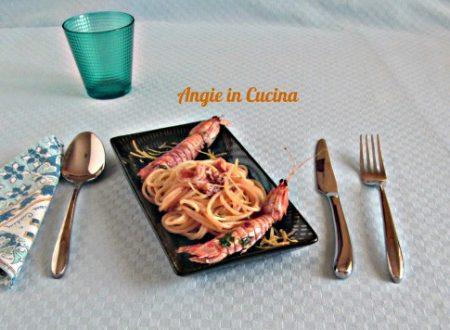 Spaghetti al sugo di cicale di mare allo zenzero