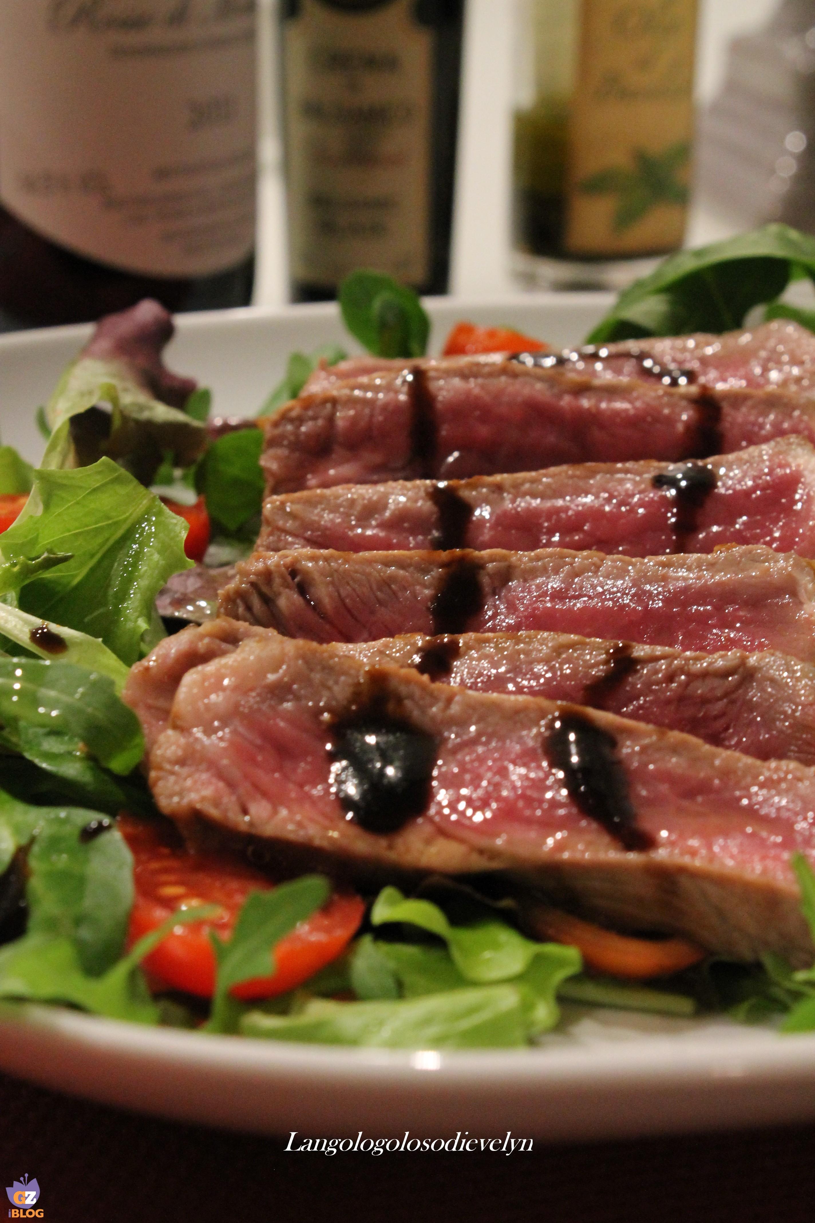 Tagliata all 39 aceto balsamico for Cucinare entrecote