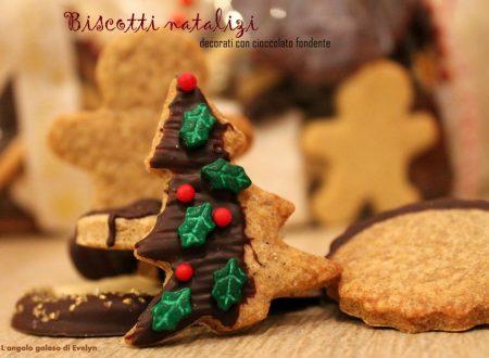 Biscotti natalizi con cioccolato
