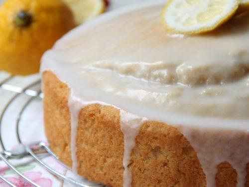 Torta glassata al limone  – vegan-