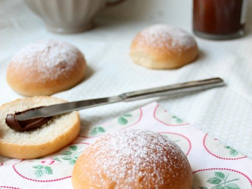 Brioches all'acqua – vegan –