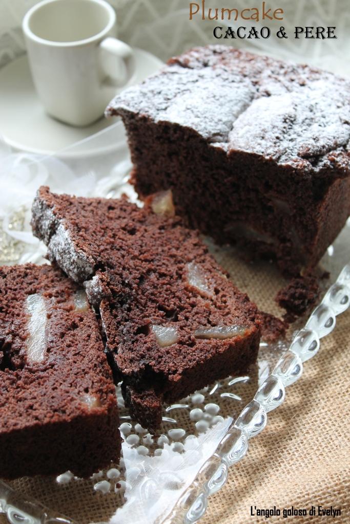 Plumcake Soffice Cacao e Pere