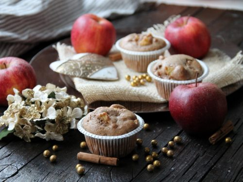 Muffin integrali con mele & spezie