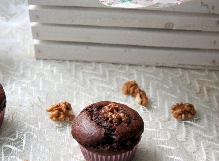 Muffin al cacao e noci