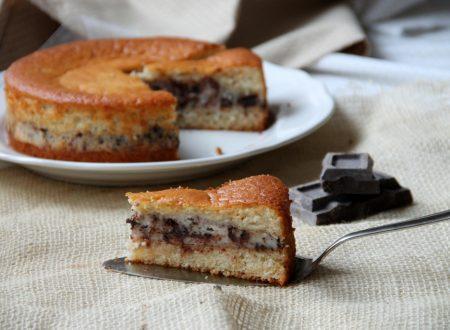 Torta versata alla ricotta e cioccolato