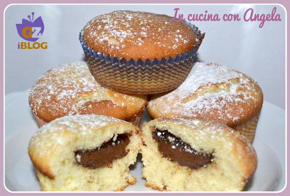 Muffin col cuore di nutella