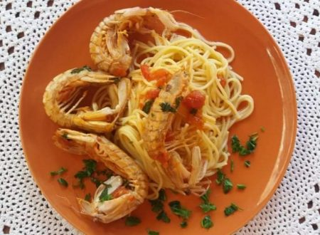 Spaghetti con cicala di mare
