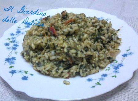 Risotto con spinaci e formaggio