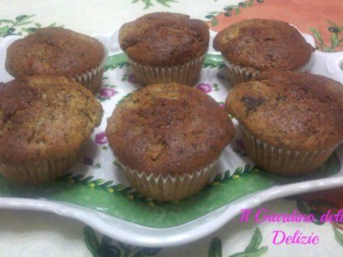 Muffin al cocco cioccolato e pera