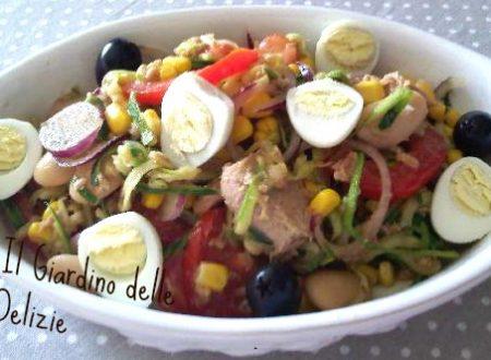 Insalata zucchine uova di quaglia e pomodori