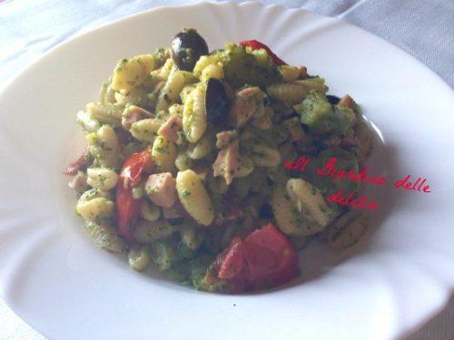 Gnocchetti con broccoli e prosciutto