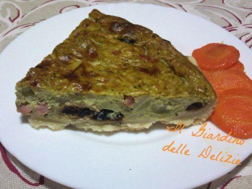 Pasta brisé gorgonzola e prosciutto