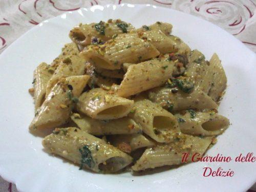 Pasta con crema di pistacchi