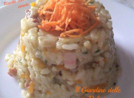 Risotto con indivia e carote
