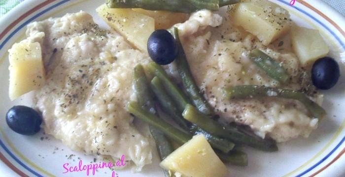 Filetti al microonde e verdura