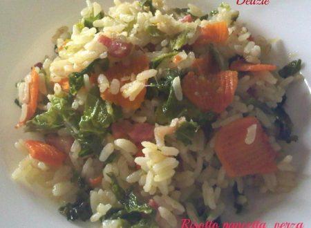 Risotto pancetta verza e carote