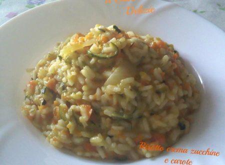 Risotto con crema di verdure