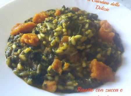 Risotto con zucca e spinaci