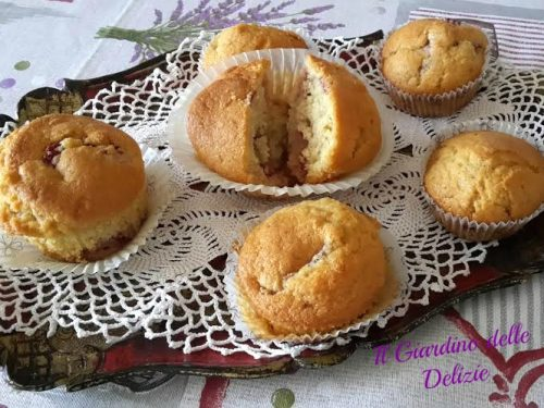 Muffin alla fragola semplici