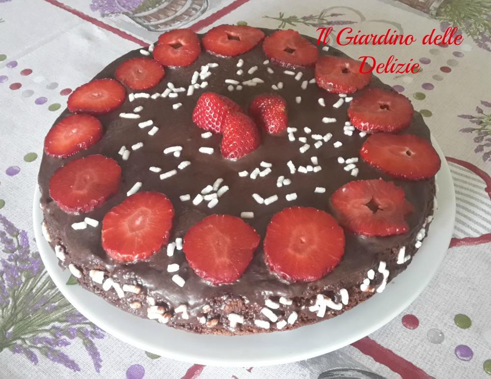 Torta Cioccolato E Fragole Il Giardino Delle Delizie
