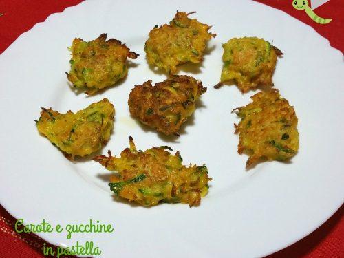 Carote e zucchine in pastella