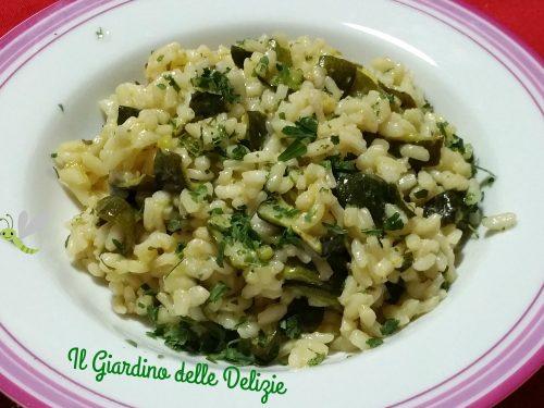 Riso tartufo e zucchine