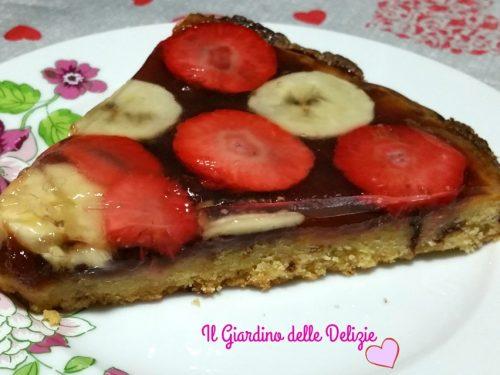 Torta banane e fragola