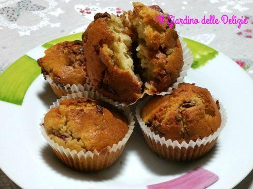 Muffin fondente e fragole